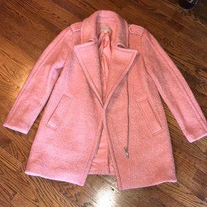 ❣️Pink Marled Moto LOFT coat